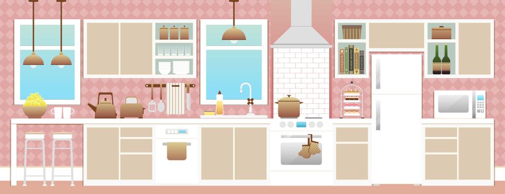 хранение на кухне в шкафчиках